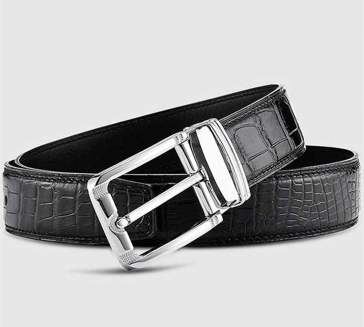 Classic & Fashion Genuine Crocodile Belt - Lay