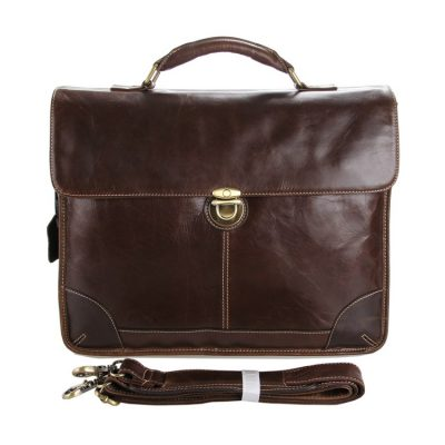 Classic Vintage Leather Briefcase Laptop Bag Messenger Bag