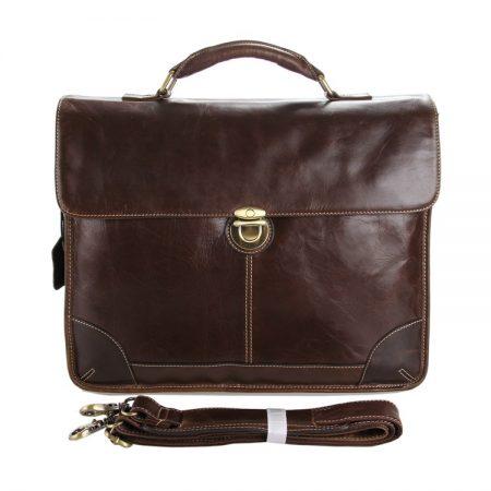Classic Vintage Leather Briefcase Laptop Bag Messenger Bag