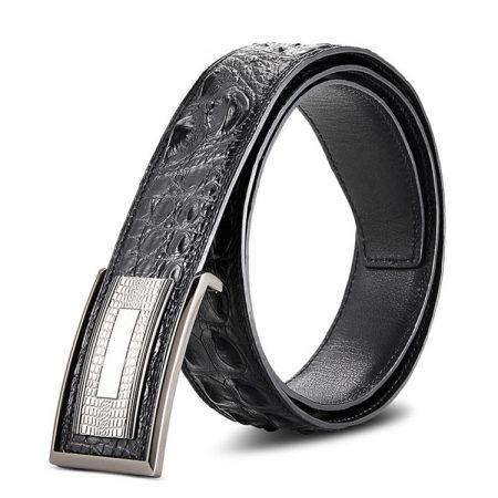 Elegant, Stylish Genuine Crocodile Belt-Black
