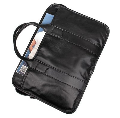 Excellent Italy leather briefcase, Leather Laptop Bag-Pocket