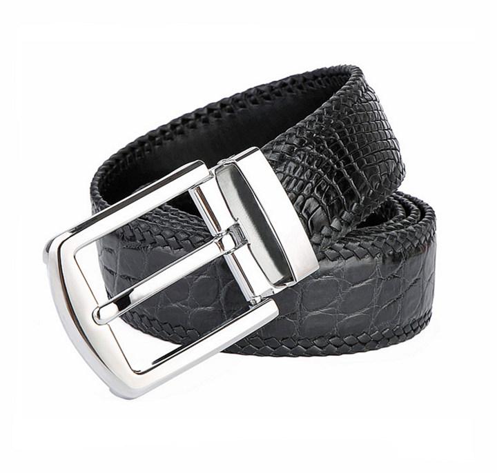 Handmade Genuine Crocodile Belt-Buckle