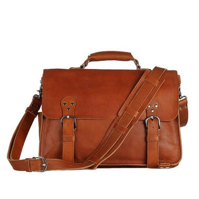 Leather Messenger Bag, Leather Briefcase Backpack