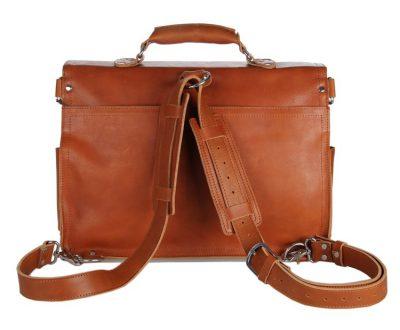 Leather Messenger Bag, Leather Briefcase Backpack-Details