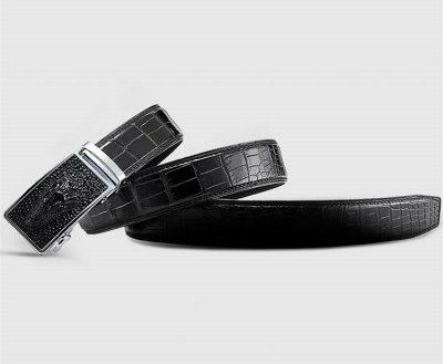 Luxury Automatic Buckle Crocodile Belt-Lay