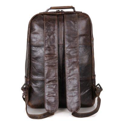 Men's Vintage Leather Backpack, Leather Rucksack-Back