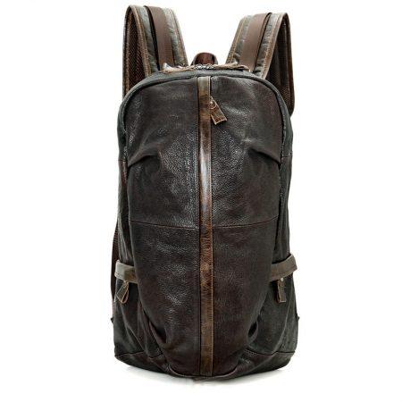 Mens Full Grain Leather Backpack, Leather Rucksack