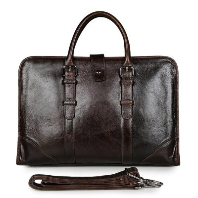 Premium Quality Leather Briefcase, Laptop Bag, Handbag, Satchel, Business Bag
