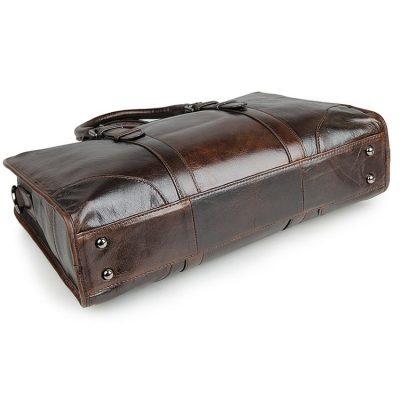 Premium Quality Leather Briefcase, Laptop Bag, Handbag, Satchel, Business Bag-Bottom