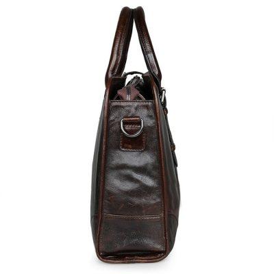 Premium Quality Leather Briefcase, Laptop Bag, Handbag, Satchel, Business Bag-Side