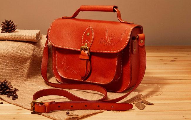 Stylish Leather Handbag Leather Messenger Shoulder Crossbody Bag for Women