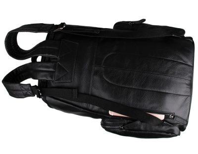 Stylish Urban Leather Backpack-Back pocket