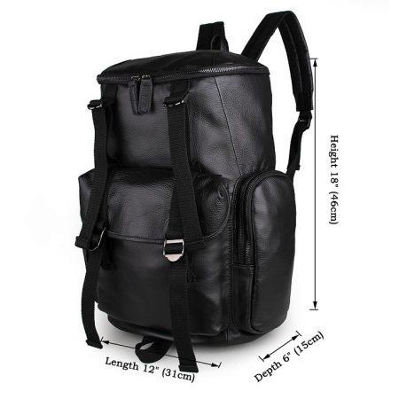 Stylish Urban Leather Backpack-Size