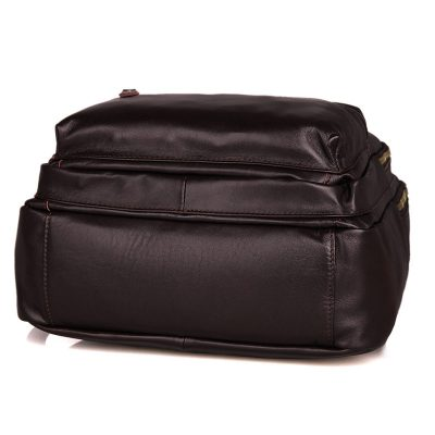 Unisex Leather Backpack, Laptop Backpack-Bottom