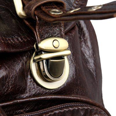Vintage Leather Travel Backpack For Men-Botton