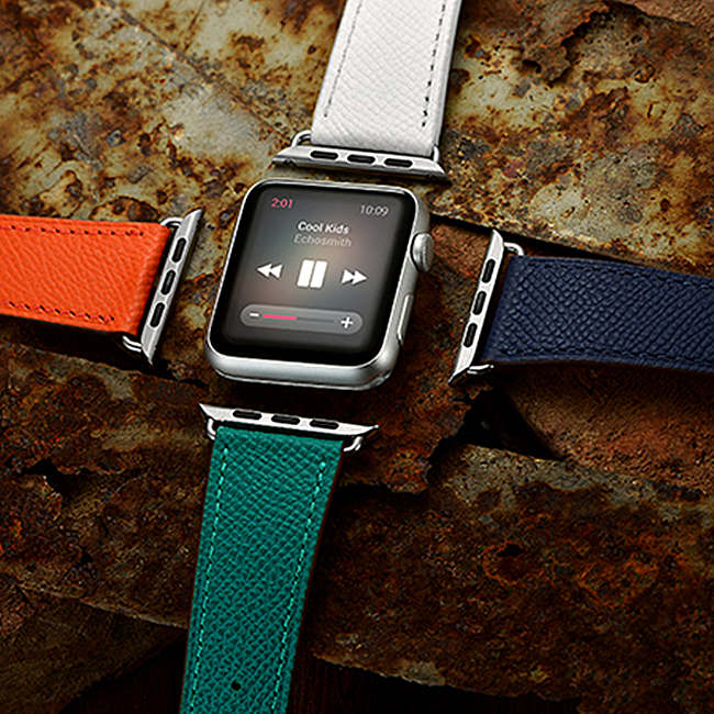 cheap leather apple watch band