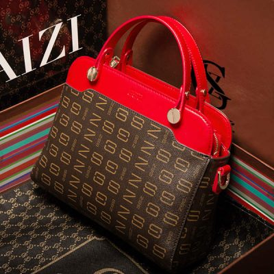 gray leather handbags for women