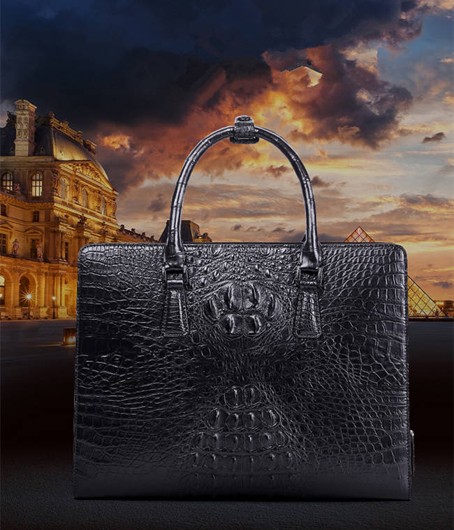 Alligator Leather Bag for Men