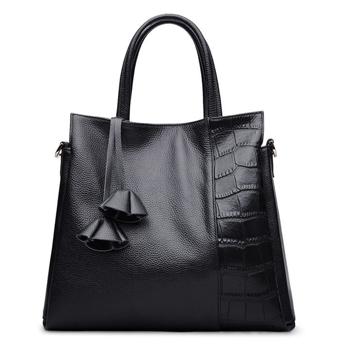 BBY Leather Shoulder Handbag - Black
