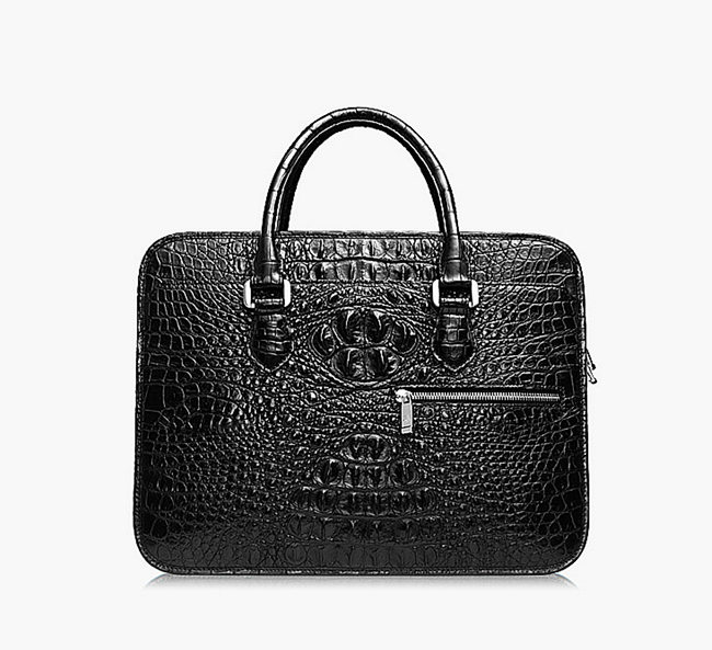 Black Crocodile Briefcase