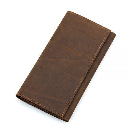 Crazy Horse Leather Wallet, Cowhide Wallet for Men