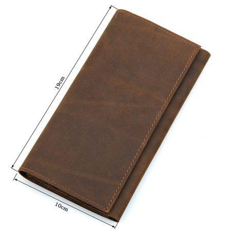 Crazy Horse Leather Wallet, Cowhide Wallet for Men-Size