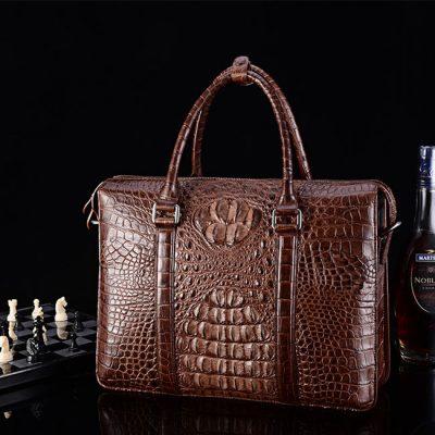 Crocodile Briefcase for Men