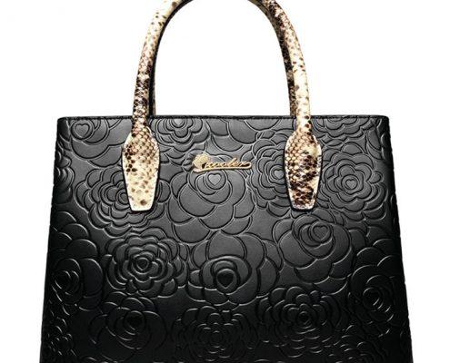 GYG Leather Handbag -Black