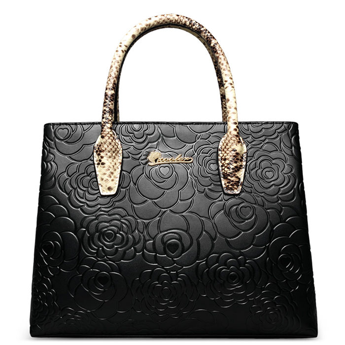 GYG Leather Handbag -Black