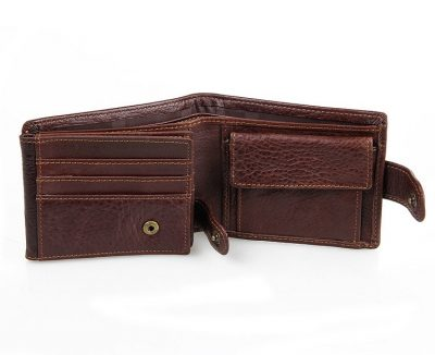 Genuine Leather Wallet Card Holder-Inside