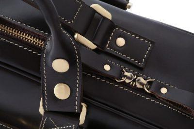 Handmade Leather Briefcase, Leather Travel Bag, Weekend Bag-Details