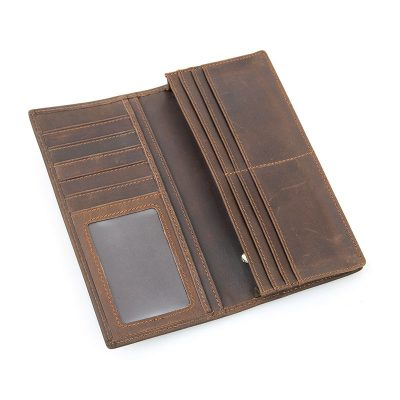 Mens Personalized Leather Wallet-Inside
