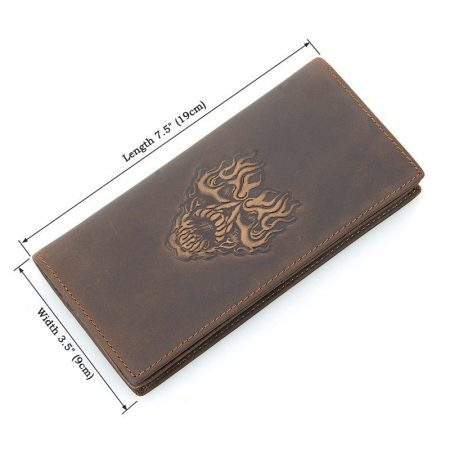 Mens Personalized Leather Wallet-Size