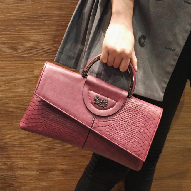 Pink Leather Handbags for Women