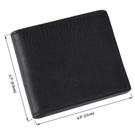 Soft Black Leather Wallet, Genuine Leather Wallet for Men-Size