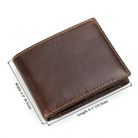 Vegetable Tanned Leather Wallet, Men's Leather Wallet-Size