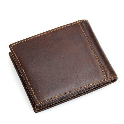 Vegetable Tanned Leather Wallet for Men