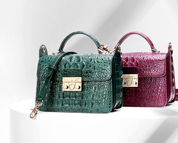 BRUCEGAO's Handmade Crocodile Leather Bags
