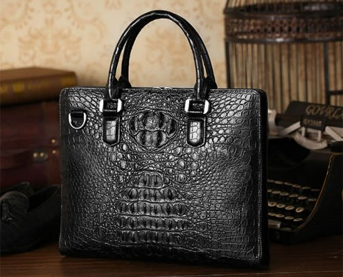 Crocodile Leather Briefcase Is the Best Gift for Your Father