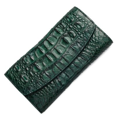Green Crocodile Leather Wallets