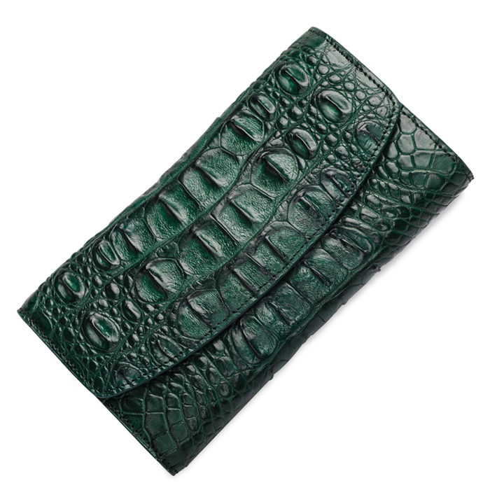 Green Crocodile Leather Wallets