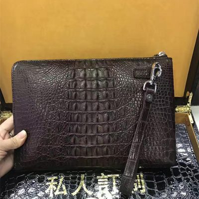 Large Brown Crocodile Leather Wallet