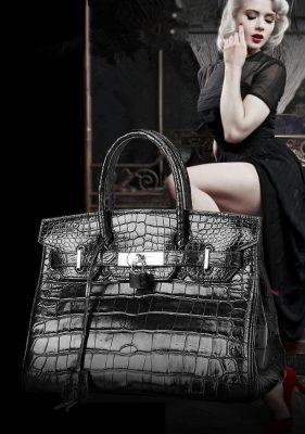 noble alligator leather bag for women