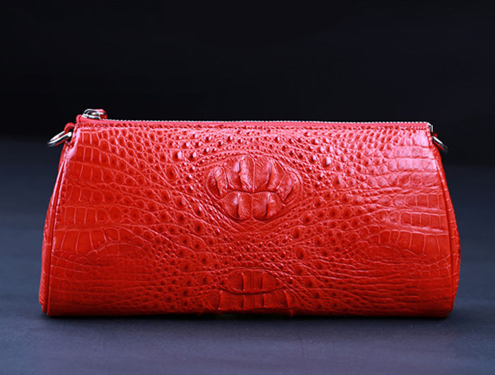 rose red crocodile wallet
