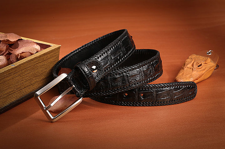 Black series crocodile belt