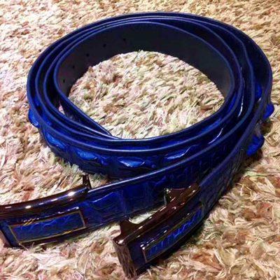 Blue series crocodile belt