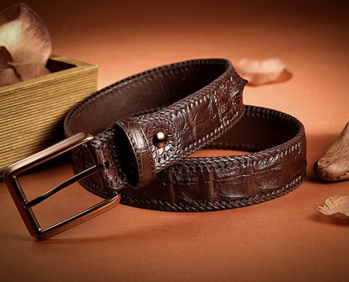 Brown series crocodile belt