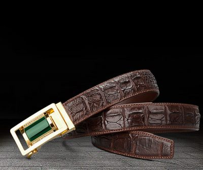 true crocodile leather belt from BRUCEGAO