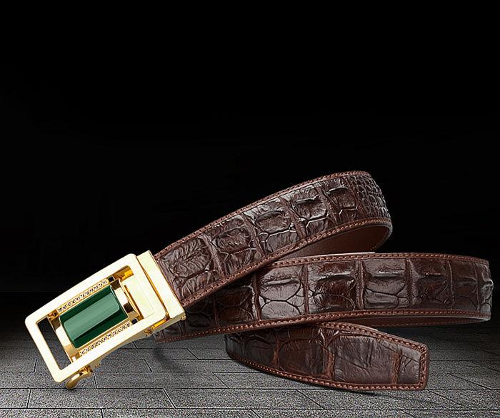 true crocodile leather belt from BRUCEGAO