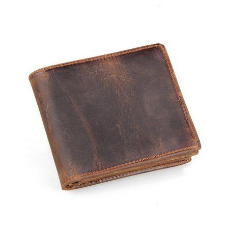 Slim Vintage Leather Wallet Pocket Wallet